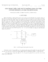 Giải thuật điều chế vectơ không gian cải tiến cho bộ nghịch lưu ba pha bốn khóa.