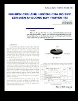 Nghiên cứu ảnh hưởng của bộ SVC lên điện áp đường dây truyền tải