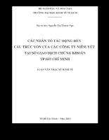 Các nhân tố tác động đến cấu trúc vốn của các công ty niêm yết tại SGD TpHCM.pdf