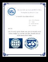 Các tổ chức quốc tế IMF, WB