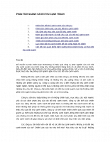 Chương 6 - Phân tích ngành và môi trường cạnh tranh