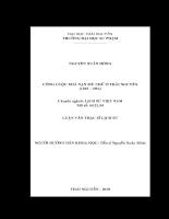 Công cuộc xoá nạn mù chữ ở thái nguyên (1945 - 1954)