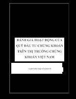 Đánh giá hoạt động của Quỹ Đầu tư chứng khoán trên thị trường chứng khoán Việt Nam