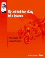 10.Một số lệnh hay dùng trên Asianux