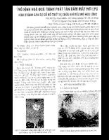 Mô hình hóa Quá trình Phân tách Mây Hình thành Dầu mỏ