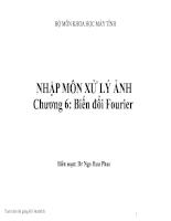 Giáo trình Xử lý ảnh    -Chapter 6