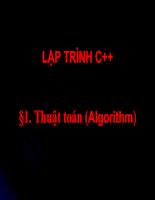 Bài giảng C - thuật toán