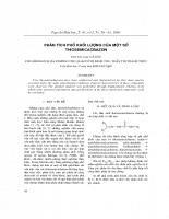 Phân tích phổ khối lượng của một số thiosemicacbazon