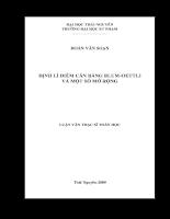 định lí điểm cân bằng blum-oettli và một số mở rộng .pdf