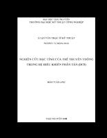 Nghiên cứu đặc tính của trễ truyền thông trong hệ điều khiển phân tán (dcs)