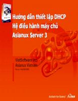 Hướng dẫn thiết lập DHCP Hệ điều hành máy chủ Asianux Server 3