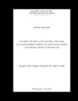 Tổ chức xã hội và tín ngưỡng, tôn giáo của nguời mông ở đồng văn (hà giang) trước cách mạng tháng tám năm 1945