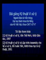 Bài giảng Kỹ thuật Vi xử lý P1