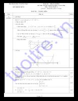 Đáp án đề thi đại học toán khối A năm 2010