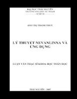 Lý thuyết nevanlinna và ứng dụng