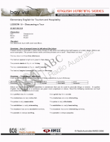English for Tourism and Hospitality 15