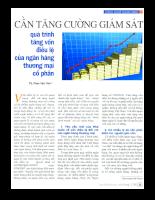 Cần tăng cường giám sát quá trình tăng vốn điều lệ của ngân hàng thương mại cổ phần