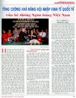 Tăng cường khả năng hội nhập kinh tế quốc tế của hệ thống Ngân hàng Việt Nam .pdf