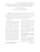 Nghiên cứu mô phỏng số phân bố vận tốc của dòng phun rối xoáy trong tưới phun
