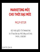 Marketing thời đại mới - Phillip Kotler