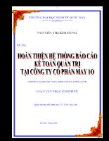 Hoàn Thiện Hệ Thống Báo Cáo Kế Toán Quản Trị Tại Công Ty Cổ Phần May10- Garco10