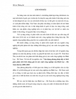 Vận dụng phương pháp dãy số thời gian phân tích biến động giá trị sản xuất công nghiệp của Bình Lục - Hà Nam thời kỳ 2000-2004