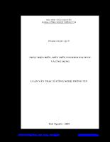 Phát hiện biên biểu diễn fourier elliptic và ứng dụng