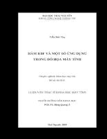 Hàm rbf và một số ứng dụng trong đồ họa máy tính