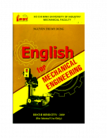 English for Mechanical Engineering