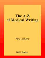The A-Z of Medical Writing