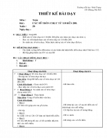 Giáo án Toán học - Lớp 2 - Các số tròn chục từ 110 đến 200