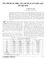 Mấy vấn đề nâng cao giá trị cà phê xuất khẩu của Việt Nam.pdf
