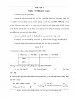 Hoạt động của doanh nghiệp sau khi đạt chuẩn ISO 9000 - Phụ lục 2