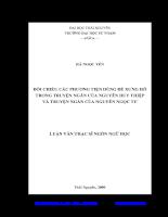 Đối chiếu các phương tiện dùng để xưng hô trong truyện ngắn của nguyễn huy thiệp và truyện ngắn của nguyễn ngọc tư