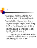 Bài giảng triết học - Chương 11