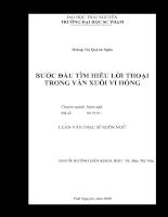 Bước đầu tìm hiểu lời thoại trong văn xuôi Vi Hồng