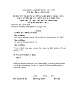 Đề thi lý thuyết kỹ thuật sửa chữa, lắp ráp máy tính 37