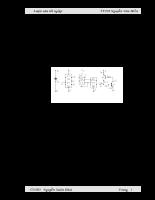 Thiết kế và thi công mô hình mạch kích Thyristor trong thiết bị chỉnh lưu có điều khiển