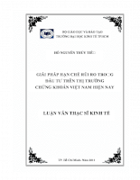 Giải pháp hạn chế rủi ro trong đầu tư trên thị trường chứng khoán Việt Nam hiện nay.pdf