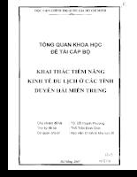 Khai thác tiềm năng kinh tế du lịch ở các tỉnh Duyên hải Miền Trung .pdf