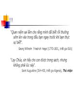 Bài giảng triết học - Chương 12