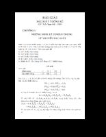 Bài tập và lời giải sác xuất thống kê
