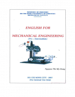 English for mechanical engineering  Pre - intermediate