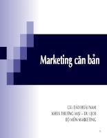 Bài giảng Marketing căn bản  (1)