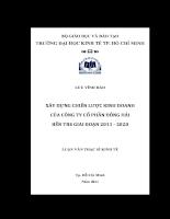 Xây dựng chiến lược kinh doanh của Công ty cổ phần Đông Hải Bến Tre