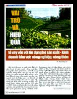 Vai trò và hiệu quả tổ vay vốn với tín dụng hộ sx-kd khu vực nông nghiệp, nông thôn.pdf