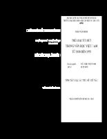 Luận án Tiến sỹ ngữ văn Thể loại tùy bút trong văn học Việt Nam từ 1930 đến 1975