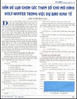 Vấn đề lựa chọn các tham số cho mô hình Holt-Winter trong việc dự báo kinh tế.pdf