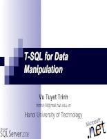 SQL Server - Bài  3