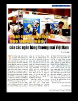 Phát triển nghiệp vụ bao thanh toán của các ngân hàng thương mại Việt Nam